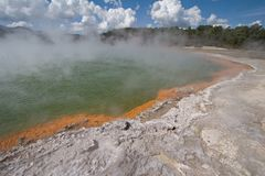Geothermisches heißes Pool Lizenzfreies Stockbild