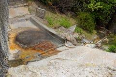 Geothermisches Heißwasser in Furnas auf der Insel von Sao Miguel stockfotos