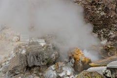 Geothermisches Heißwasser in Furnas auf der Insel von Sao Miguel lizenzfreie stockfotografie