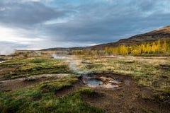 Geothermisches isländisches geysir Stockfoto
