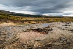 Geothermisches isländisches geysir Lizenzfreies Stockbild