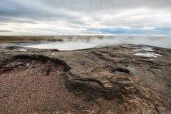 Geothermisches isländisches geysir Stockfotografie