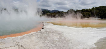 Geothermisches Märchenland WaiOTapu, Neuseeland lizenzfreies stockfoto
