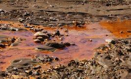 Geothermisches Wasser Kerlingarfjöll in der Mitte von Island lizenzfreies stockbild