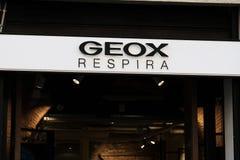 Geox商店 库存照片