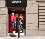 Geox boutique in Florence, Italy Stock Images