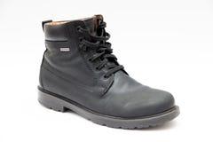 Geox känga i svart läder med endast Gore Tex Royaltyfri Bild