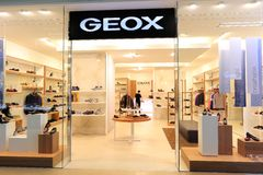 GEOX store Royalty Free Stock Photos
