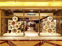 Geox Store in Rome, Italy with people shopping. Royalty Free Stock Photos