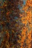 Geoxydeerd op oppervlakte van metaal voor achtergrond stock foto's