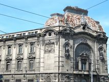 Geozavod building in Belgrade. Before restoration stock photos