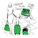 Gepäck eingestellt für Flughafen Stockfoto