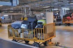 Gepäck am Flughafen Stockbilder