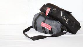 Gepäck getragener Bordflug Stockfotos
