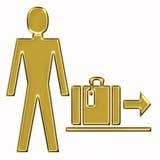 Gepäcksymbol im Flughafen Lizenzfreie Stockbilder