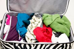 Gepäckvorbereitung Stockbild