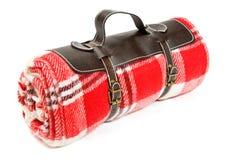 Gepackte Decke für Sonntags Picknick stockbild