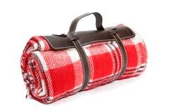 Gepackte Decke für Sonntags Picknick lizenzfreie stockfotos
