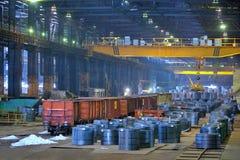 Gepackte Rollen des Stahlblechs Lizenzfreies Stockfoto