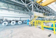 Gepackte Rollen des Stahlblechs Kaltgewalzte Stahlspulen Lizenzfreies Stockbild