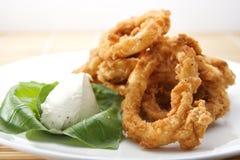 Gepaneerde Ringen Calamari Royalty-vrije Stock Fotografie