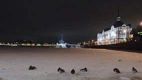 Gepantserde kruiserdageraad die Russische revolutie in 1917, St. Petersburg, Rusland begon stock videobeelden