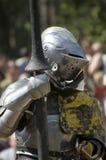 Gepantserde ridder Stock Fotografie