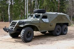 Gepantserde Russische vrachtwagen Royalty-vrije Stock Afbeeldingen