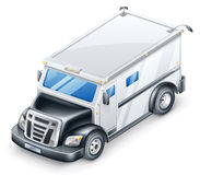 Gepantserde Vrachtwagen Stock Foto