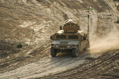 Gepanzerte Fahrzeuge in Afghanistan stockfoto