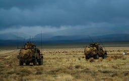 Gepanzerte Fahrzeuge in Afghanistan lizenzfreies stockbild