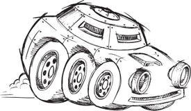 Gepanzerte Kriegs-Fahrzeug-Skizze Stockbild