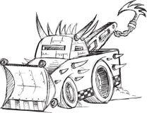 Gepanzerter Tow Truck Vehicle Sketch Lizenzfreies Stockfoto