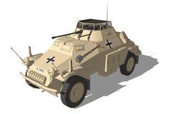 Gepanzertes Fahrzeug Afrika-Korps lizenzfreie abbildung