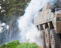 Gepanzertes Militärauto Stockfoto