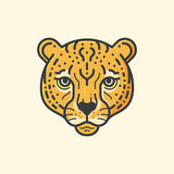 Gepard linia royalty ilustracja