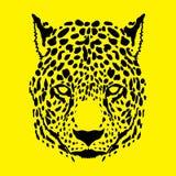 Gepardhuvud royaltyfri illustrationer