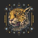 Gepardhuvudillustration royaltyfri illustrationer