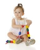 Geparelde Baby stock fotografie