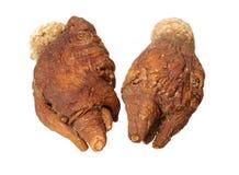 Geparfumeerde ginseng en macae Maca stock afbeeldingen