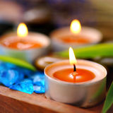 Geparfumeerde kaarsen Stock Foto