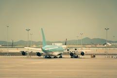 Geparkeerd Vliegtuig Stock Afbeelding