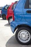 Geparkeerde auto's Stock Foto