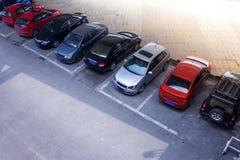 Geparkeerde auto's Stock Foto's