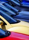 Geparkeerde auto's royalty-vrije stock fotografie