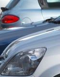 Geparkeerde auto's royalty-vrije stock foto's