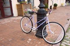 Geparkeerde fietsen Stock Afbeeldingen