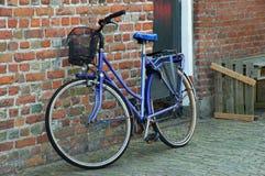 Geparkeerde fietsen. Stock Fotografie