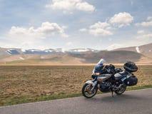 Geparkeerde Motocicle royalty-vrije stock afbeeldingen