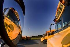 Geparkeerde schoolbussen Royalty-vrije Stock Fotografie
